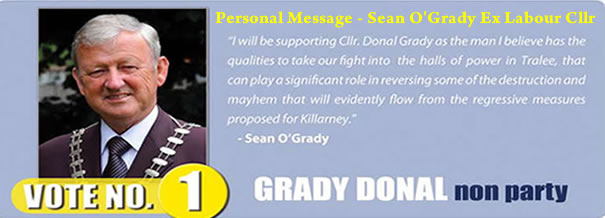 Personal Message from Sean O'Grady – Ex Labour